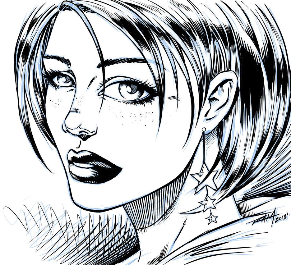 Comic Book Drawing Face Girl Tumblr Clipart Panda Free
