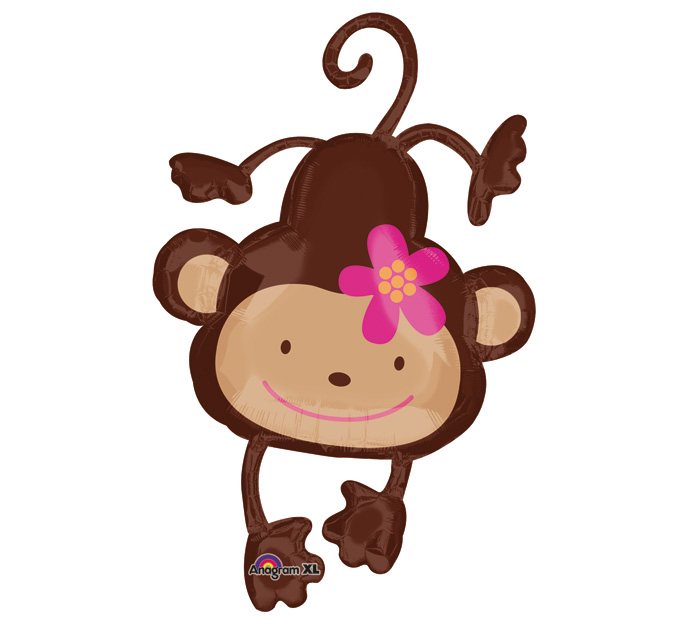 Love Balloon With cartoon Wallpaper : Girl Monkey Baby Shower clipart Panda - Free clipart Images