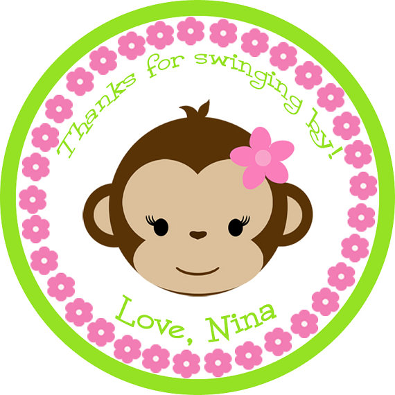 Girl Showering Clipart Girl Monkey Baby Shower Panda