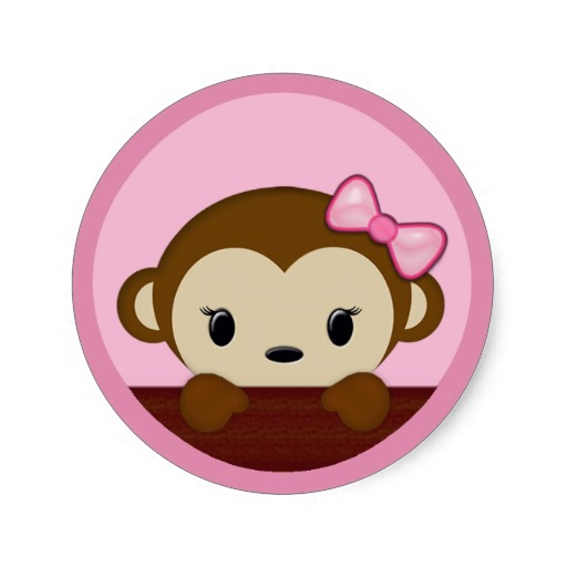Girl Monkey Baby Shower