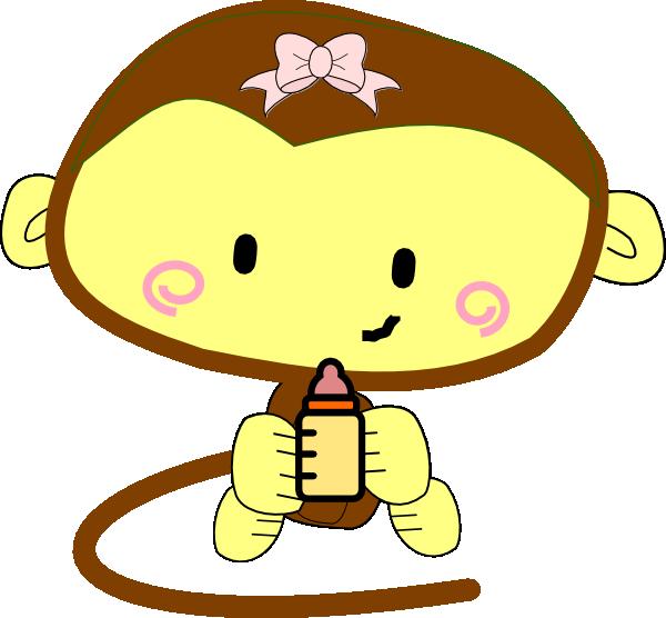 Free Baby Girl Monkey Clip Art