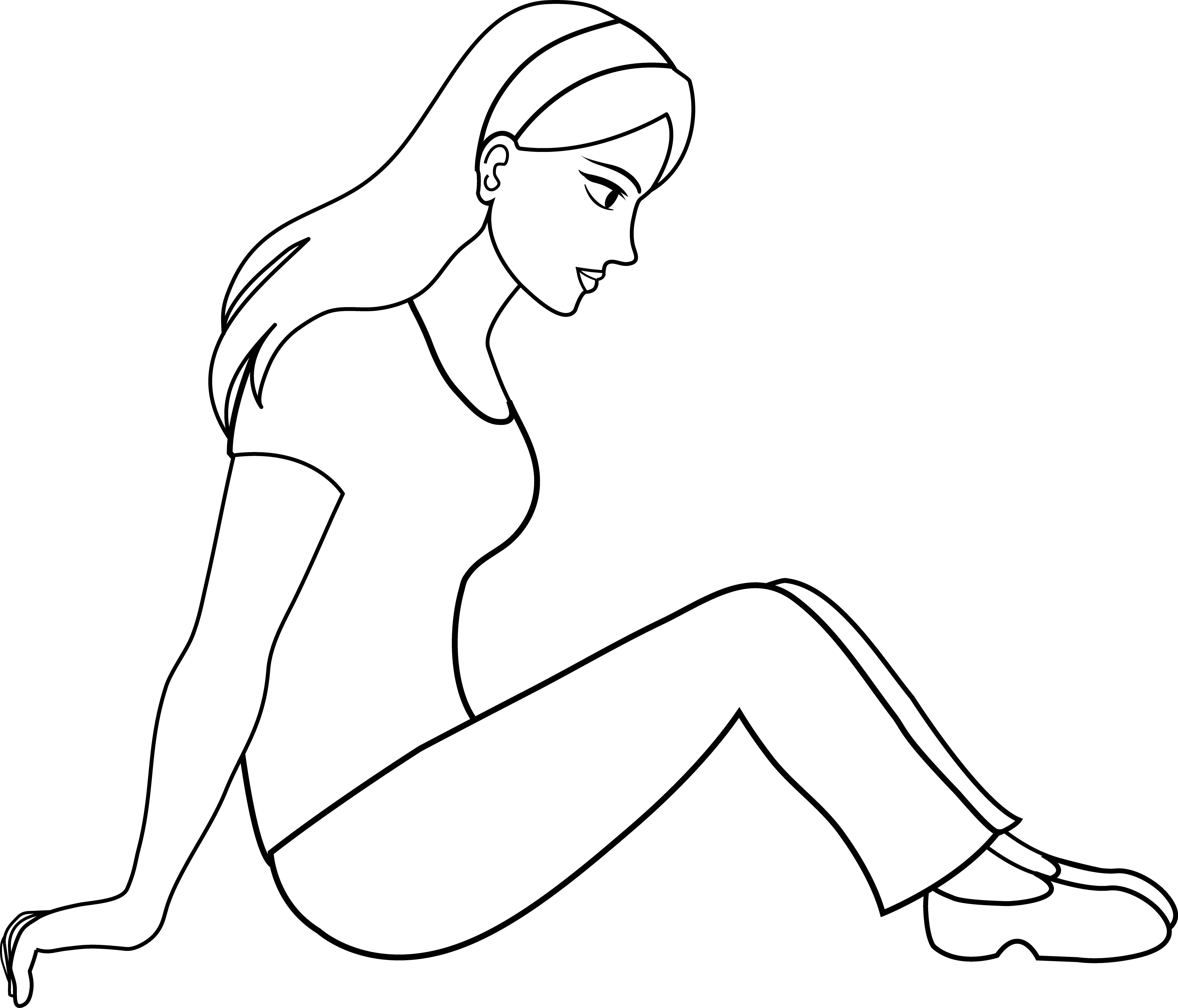 Girl Outline Clipart | Clipart Panda - Free Clipart Images