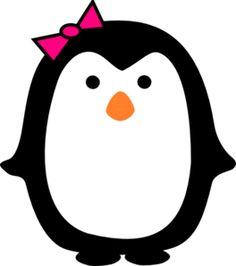 Girl Penguin Clipart