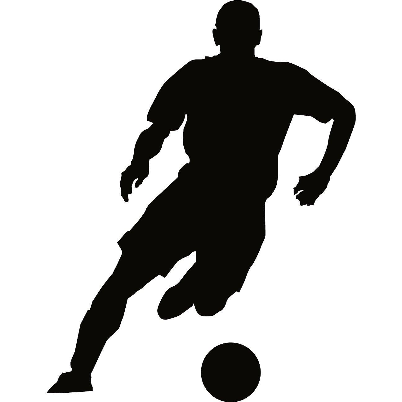 Girl Soccer Silhouette Vector Soccer Player Silhouet...