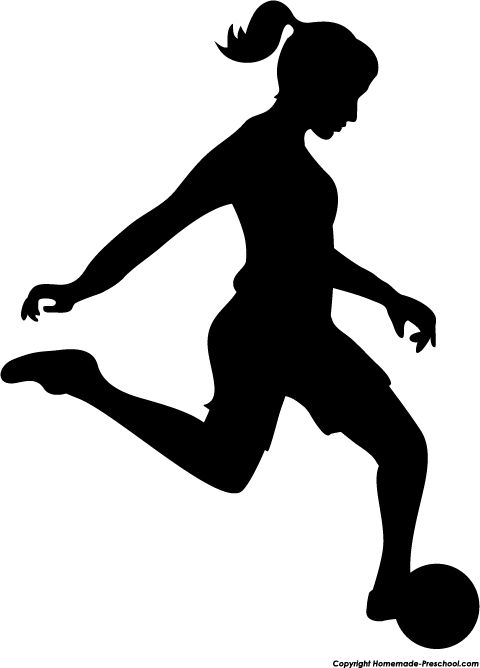 Girl Soccer Player Silhouette