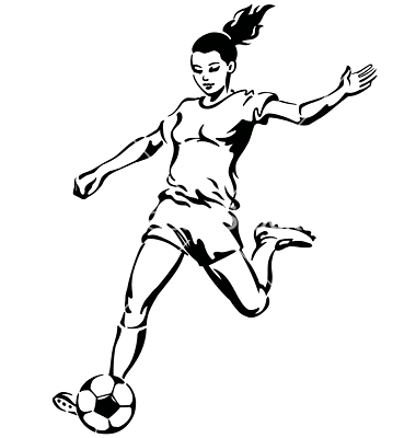 Girl Soccer Player Silhouette | Clipart Panda - Free ...