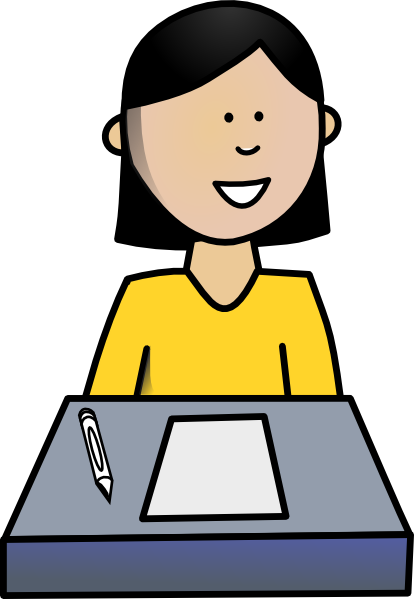 Girl Student At Desk Clipart | Clipart Panda - Free ...