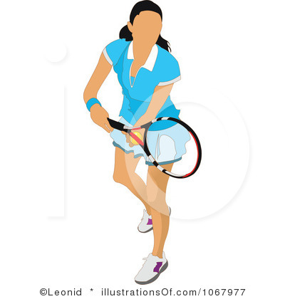 Girl Playing Clipart Girl Tennis Clipart Royalty