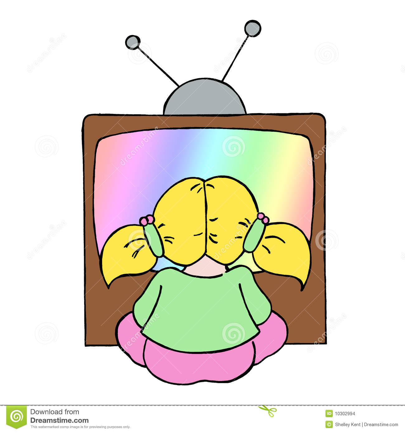 clipart boy watching tv - photo #28