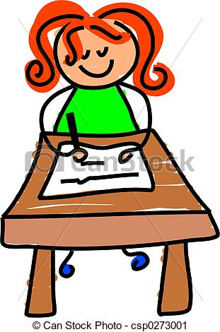 girl%20writing%20clipart