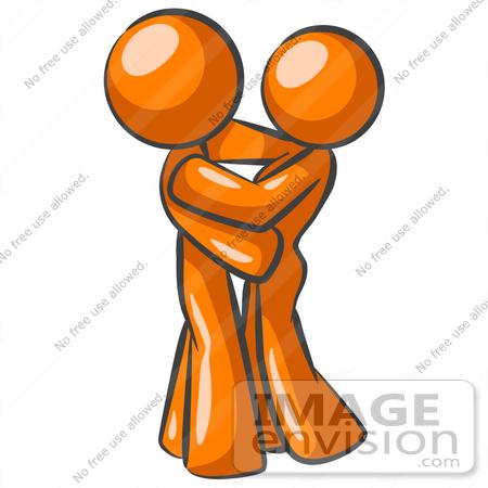 two men hugging clipart