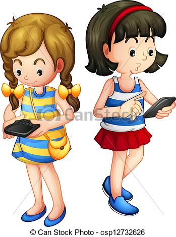 vector two girls holding a clipart panda free clipart images rh clipartpanda com girl clipart face girl clipart png