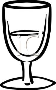 Glass Of Water Clipart Black And White | Clipart Panda ...
