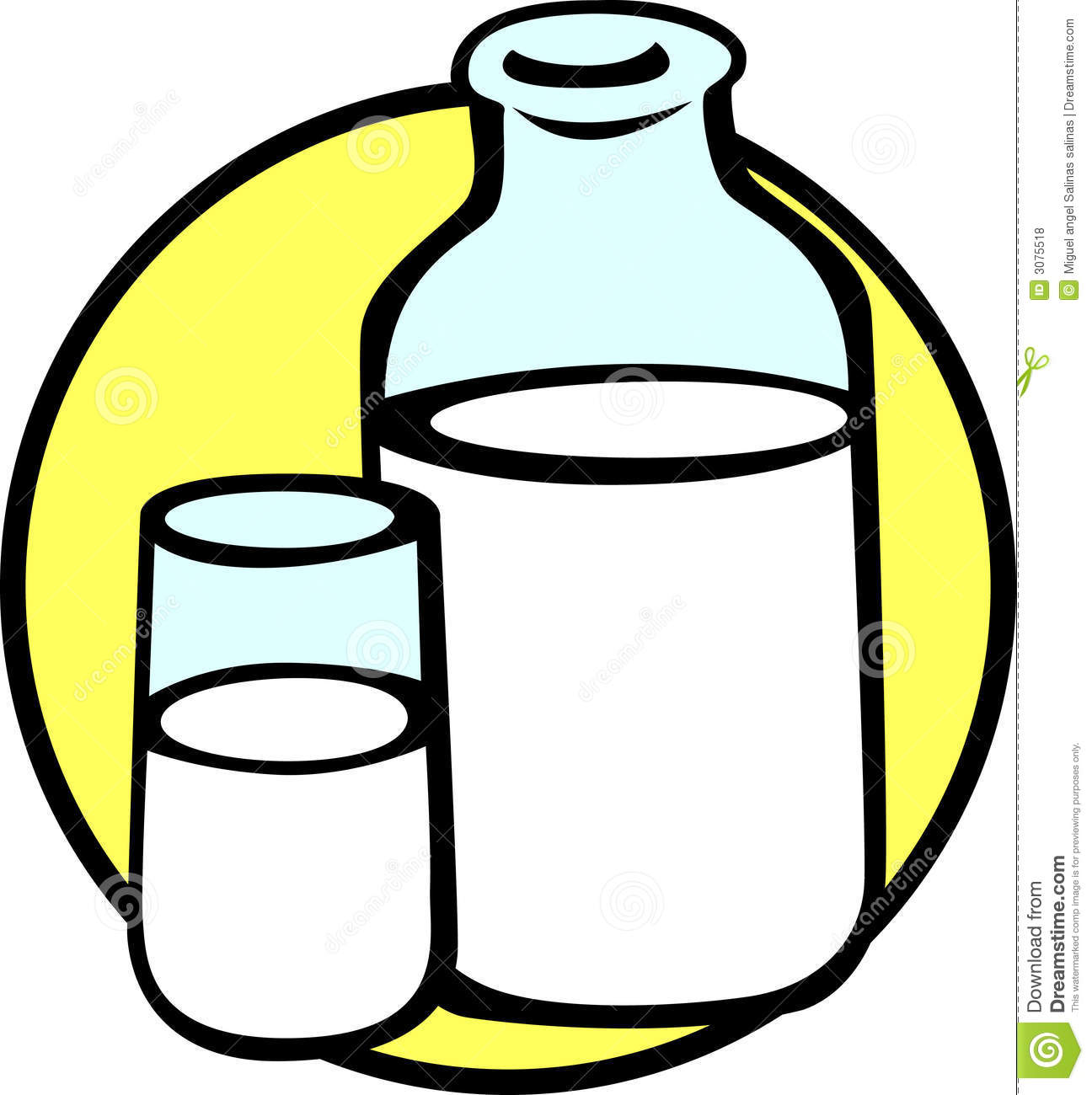clipart of a glass of milk - photo #14