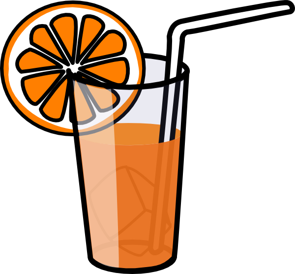 Orange Juice Glass Clipart Glass of Orange Juice Clipart