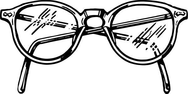 glasses clip art with blinking eyes