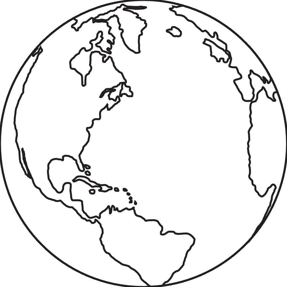 Line Art Globe : Globe clipart black and white panda free