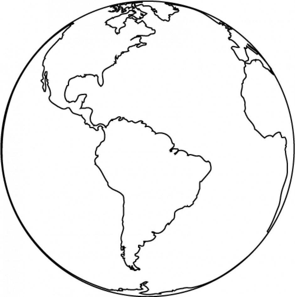 globe-clipart-black-and-white-globe-coloring-page-Earth-Printable    World Clipart Black And White