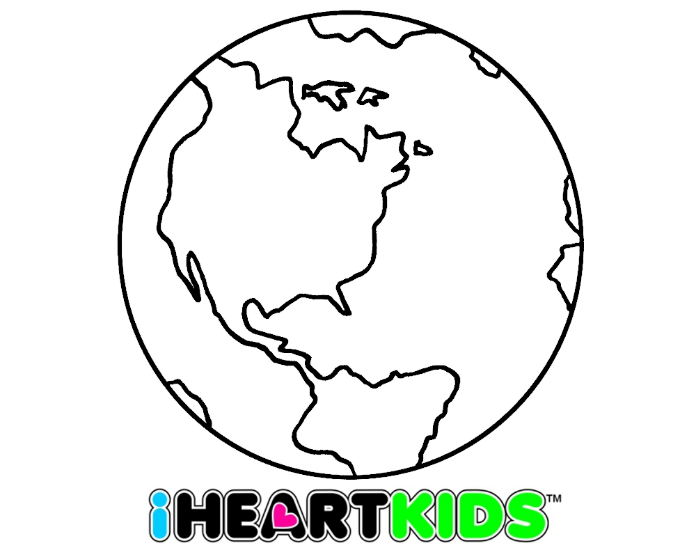 World Coloring Sheet Coloring Pages