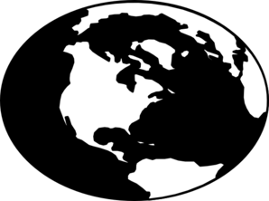 globe%20map%20clipart%20black%20and%20white