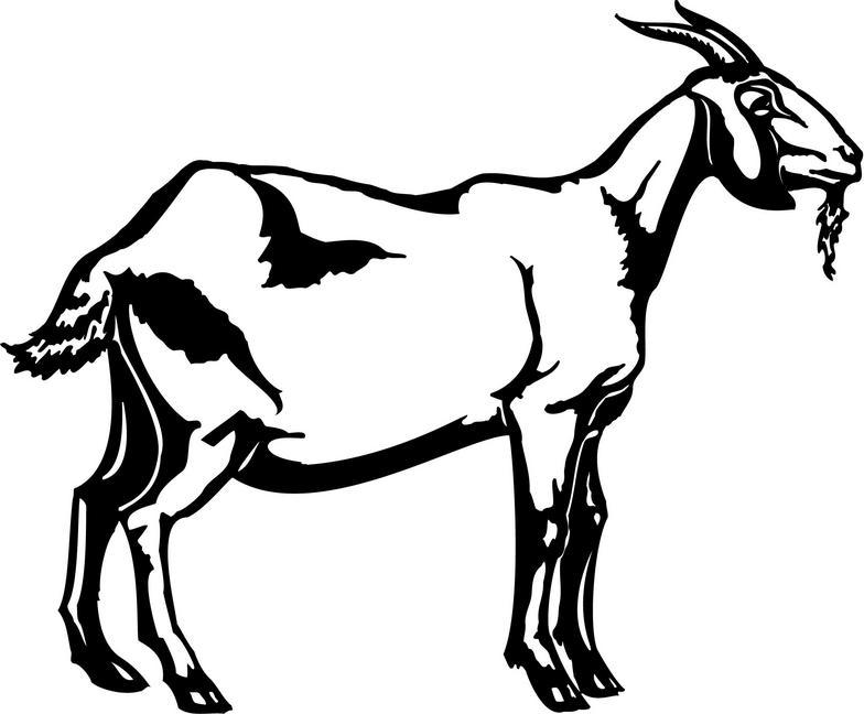 Goat Clip Art Black An...