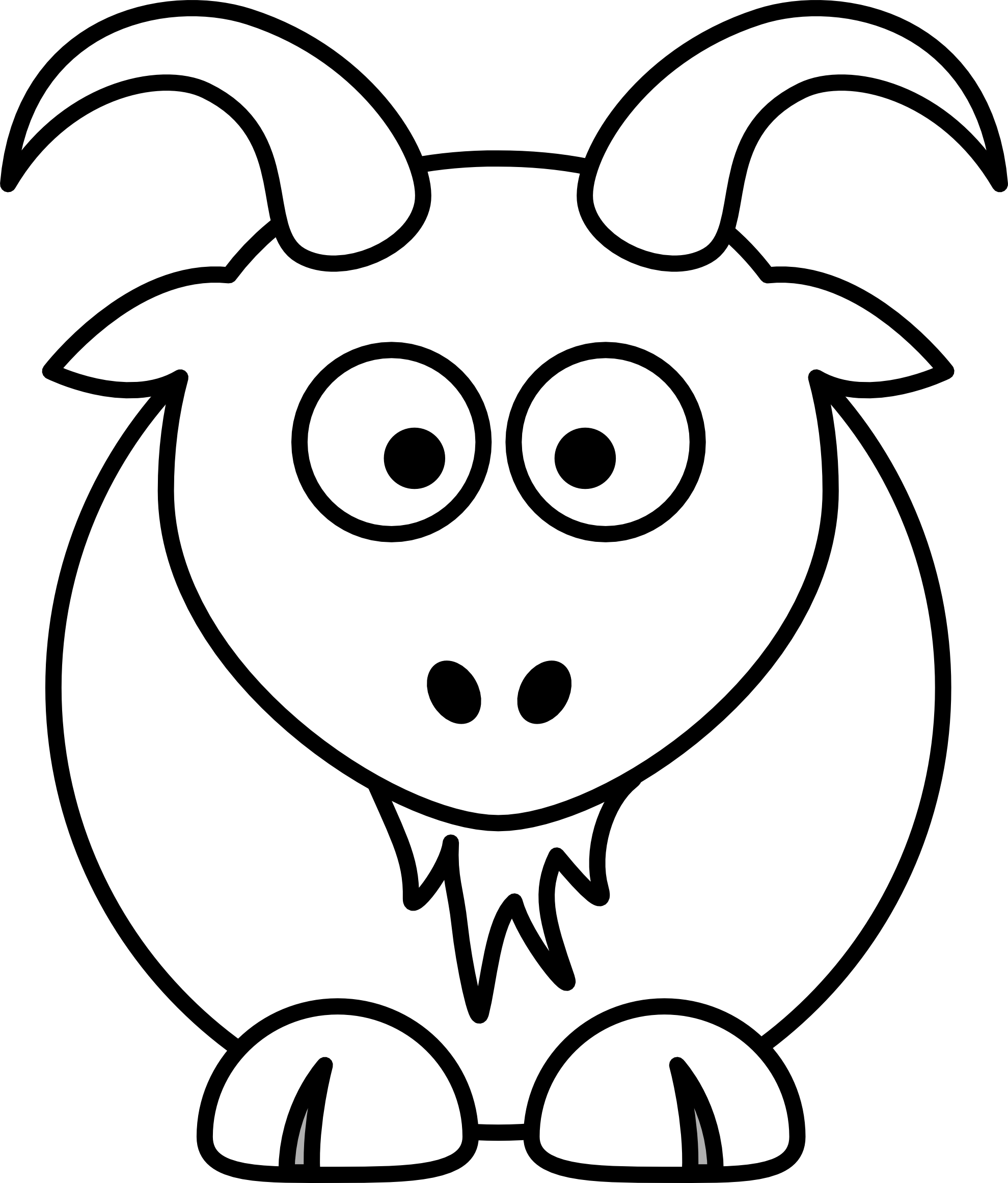 Goat clipart black and white clipart panda free clipart images - Black and wait ...