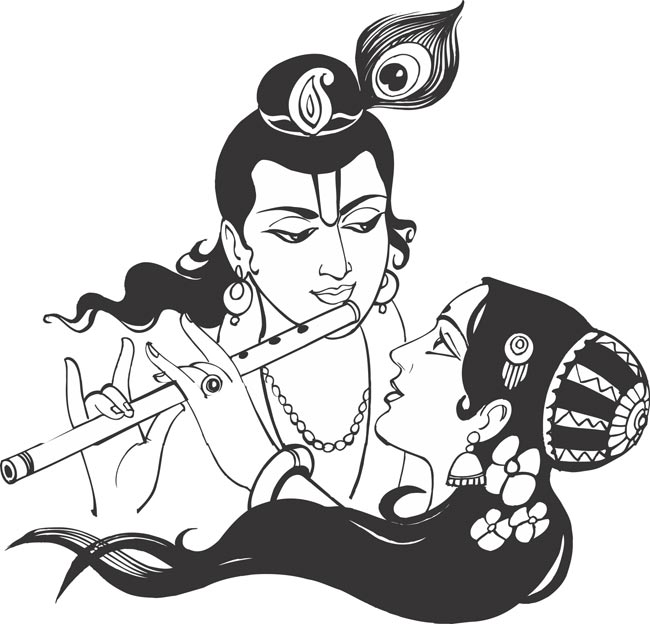 Line Art Hindu Gods : Small size download clipart panda free images