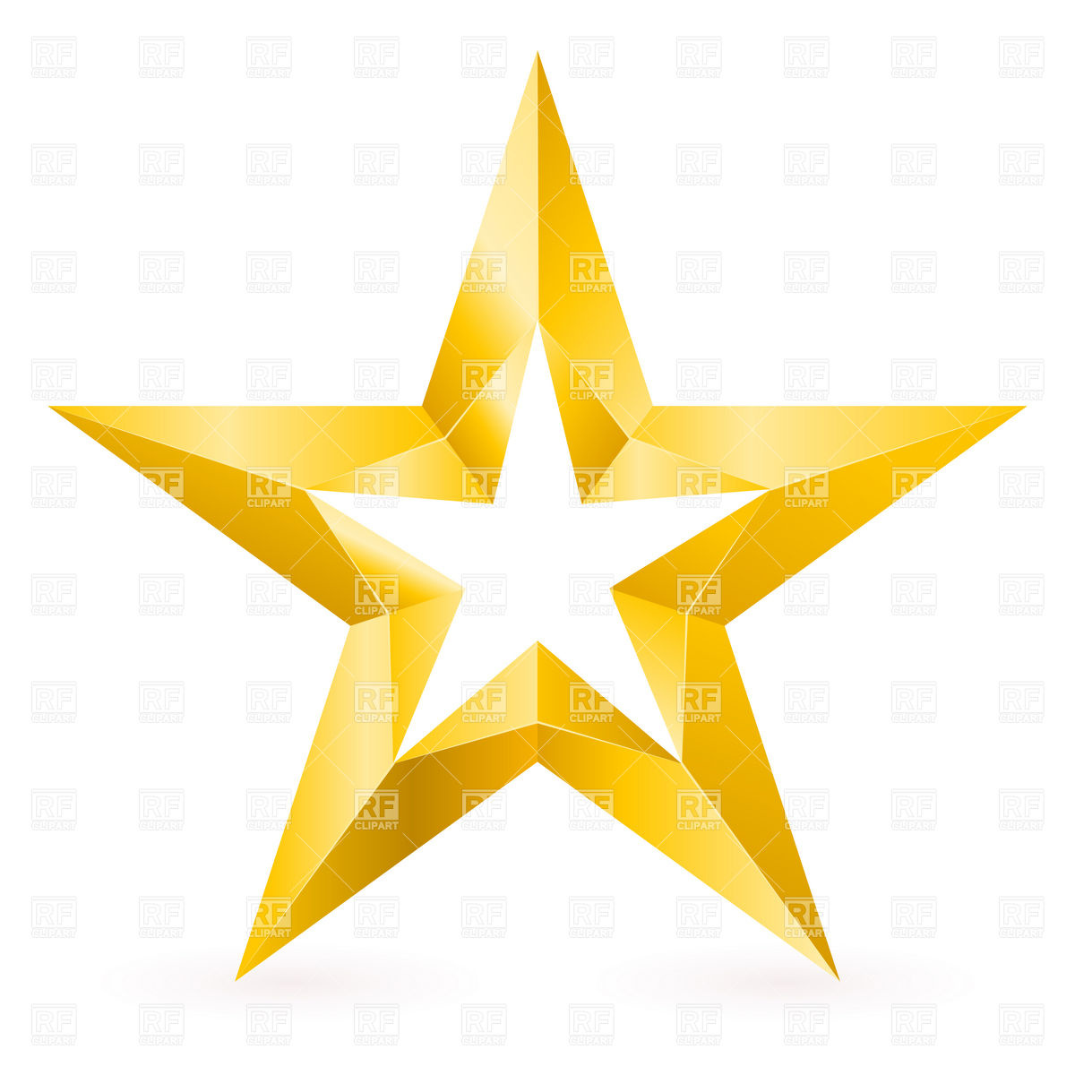 Gold Star Clip Art Png Shining gold star clipart