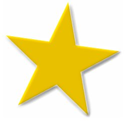 Gold Star With A Transparent   Clipart Panda - Free ...