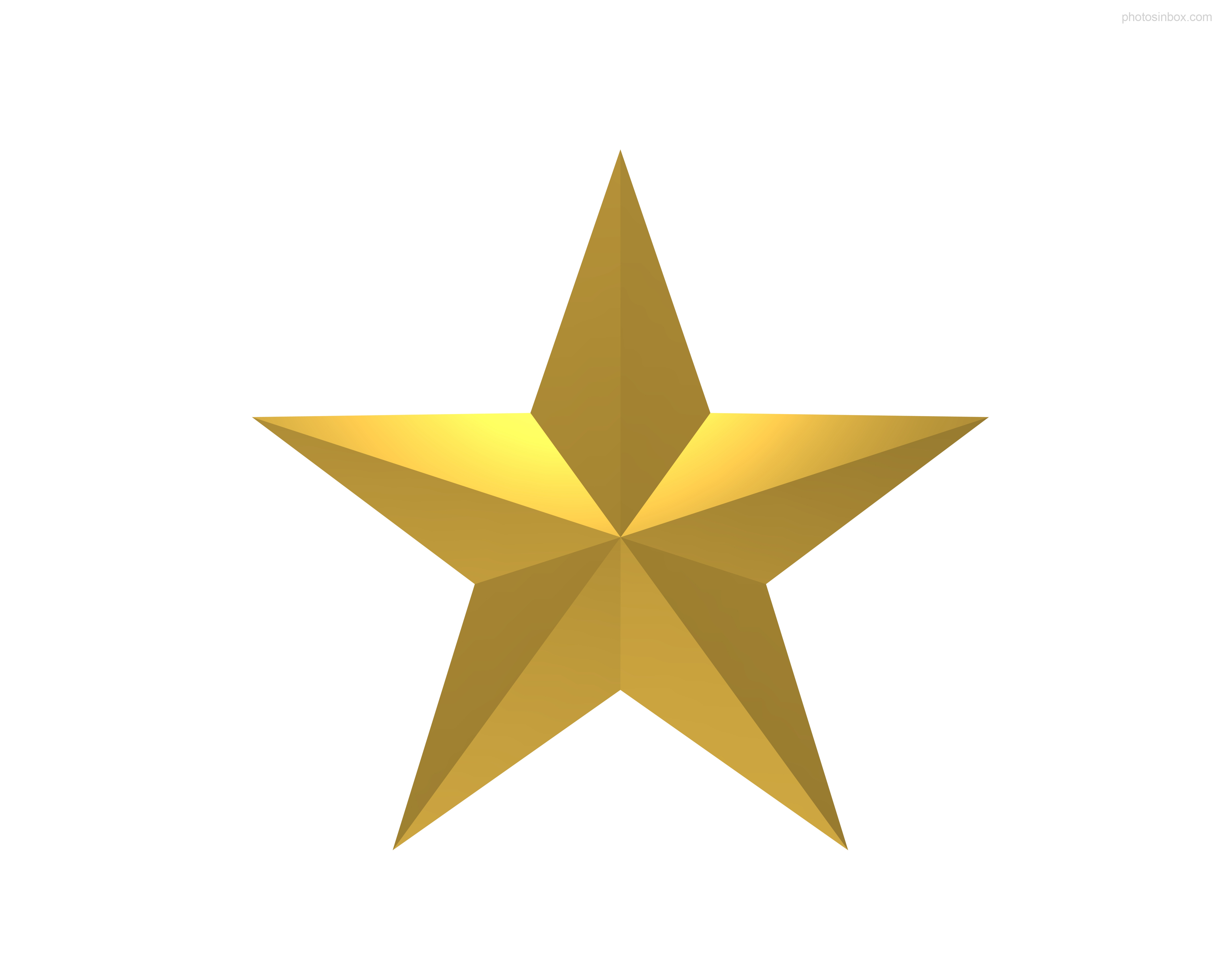 Gold Star Clipart No B...