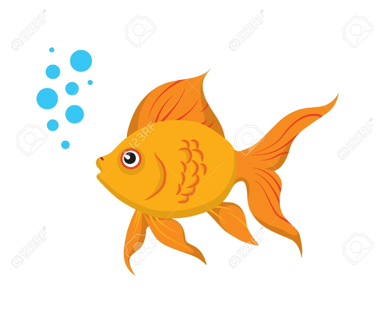 Goldfish clipart clipart panda free clipart images for Goldfish en estanque