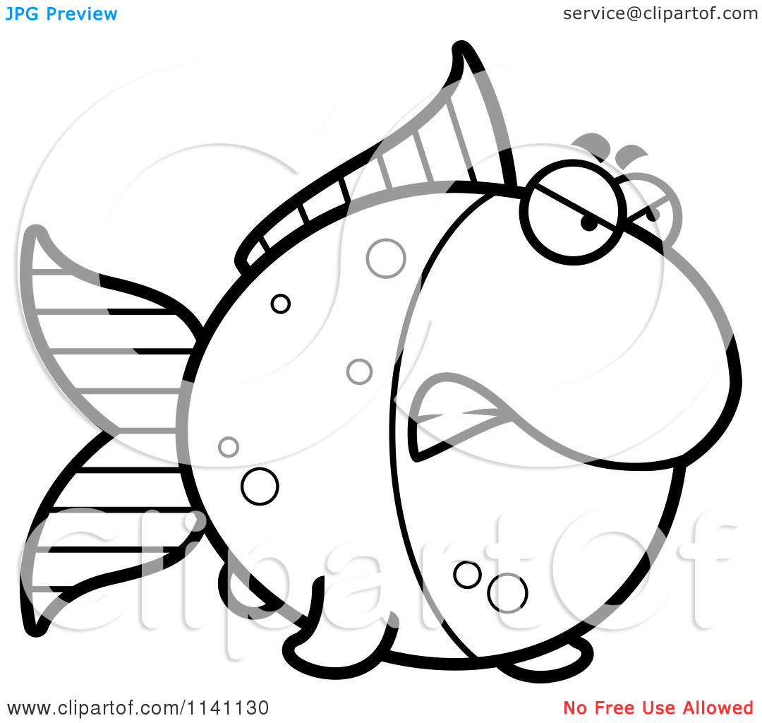 gold fish coloring page clipart panda free clipart images