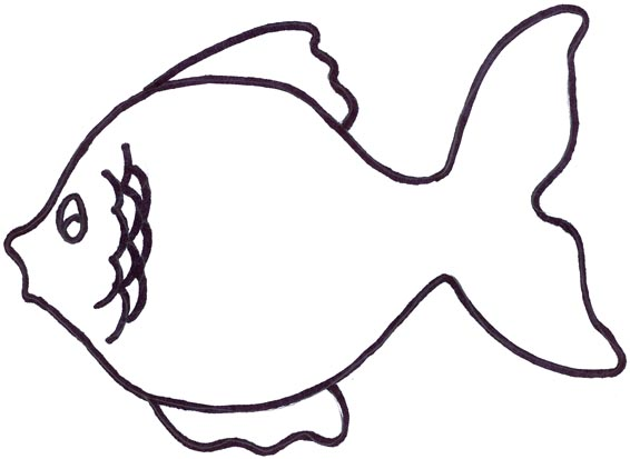 Gold Fish Clip Art Black And White