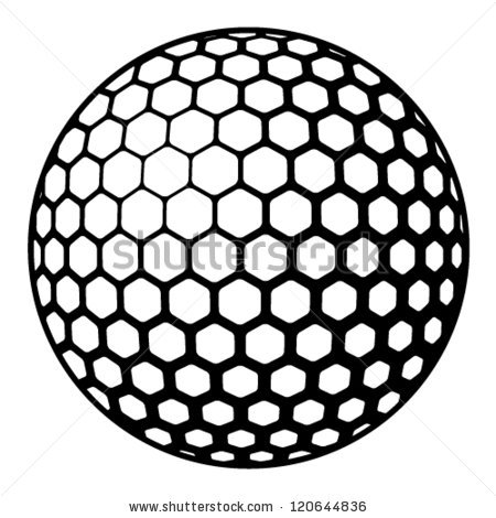 Golf Ball Black And White | Clipart Panda - Free Clipart ...