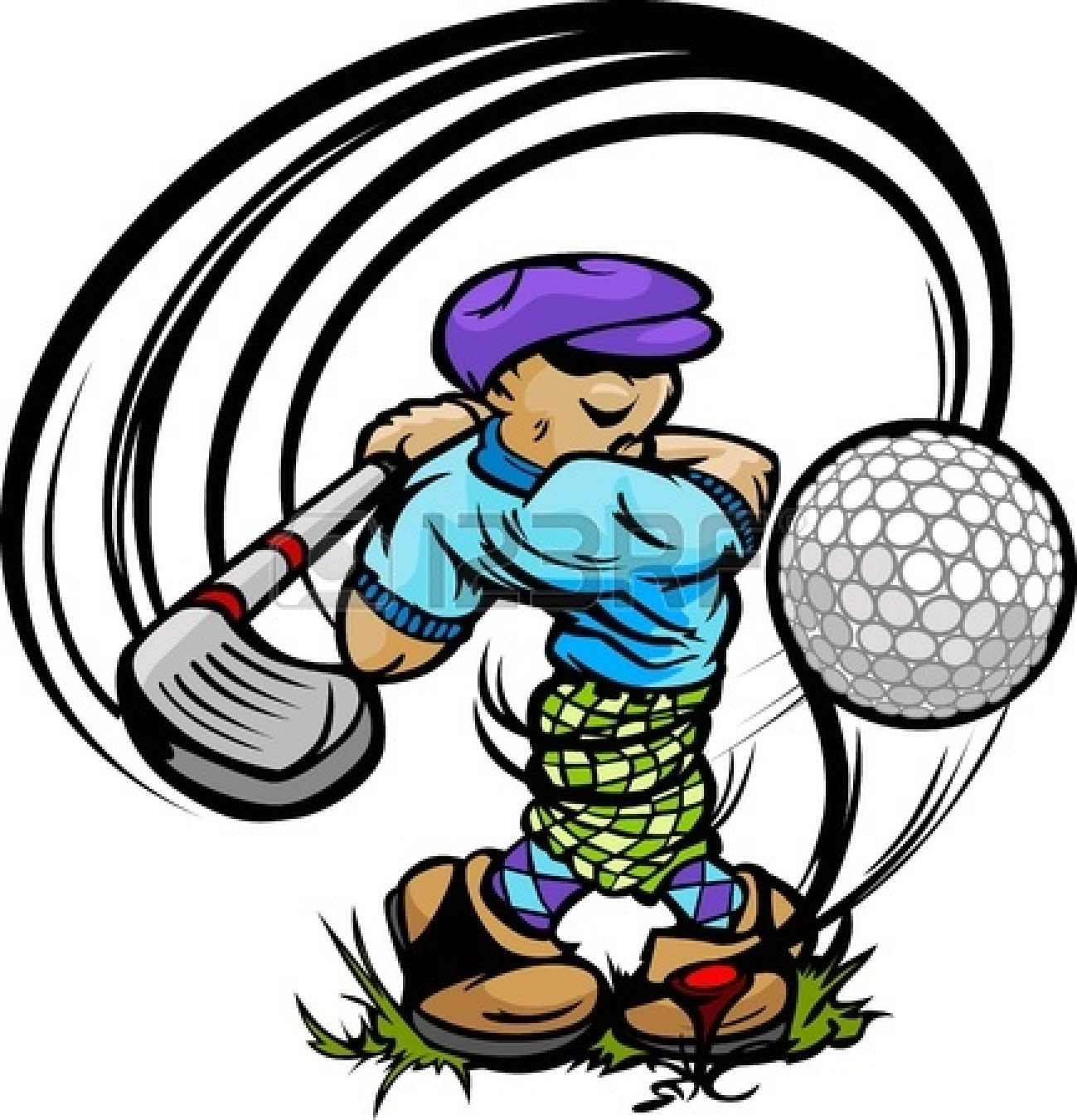 Golf Ball On Tee With Grass Clip Art | Clipart Panda - Free Clipart ...
