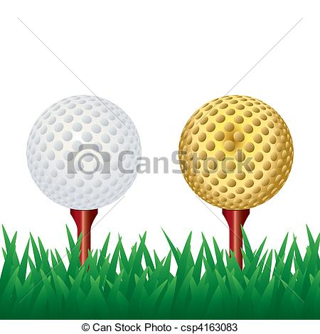 Flying golf ball clipart