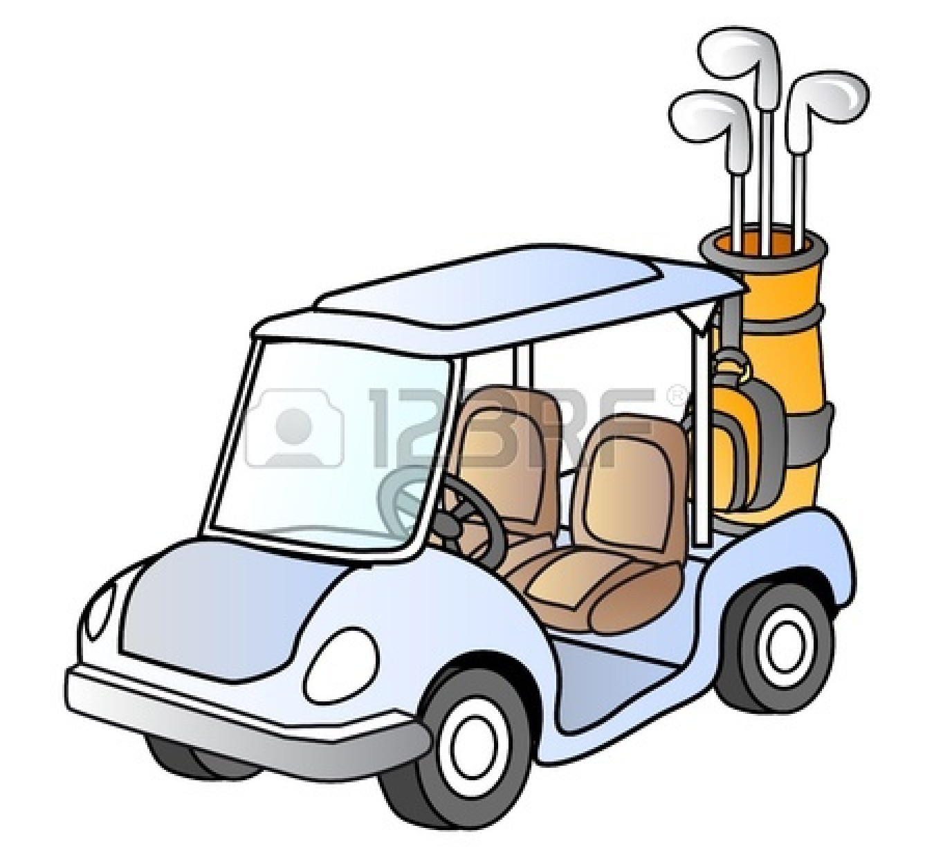 Golf Cart Clip Art Black And White | Clipart Panda - Free Clipart ...