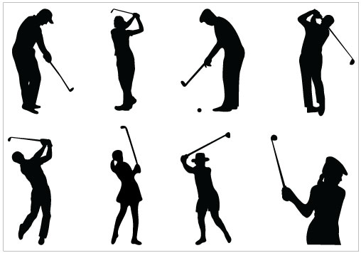 Golf images clip art black and white