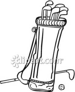 Golf Clubs And Balls Clipart
