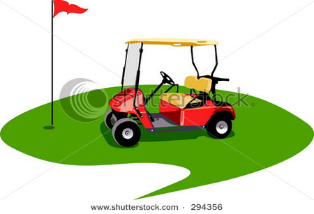 golfing-clipart-empathy-clipart-empty_golf_cart_on_the_green_with_a ...