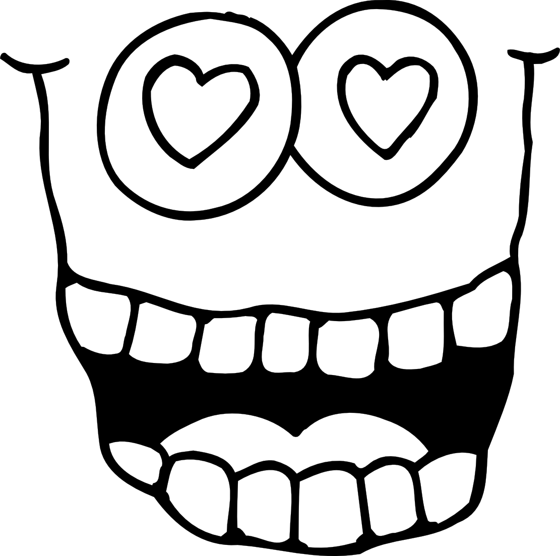 googly eyes coloring page - quiet clipart black and white clipart panda free