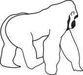gorilla%20clip%20art%20black%20and%20white