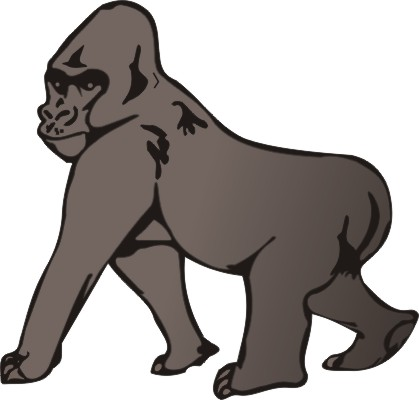 Print Gorilla Coloring Pages