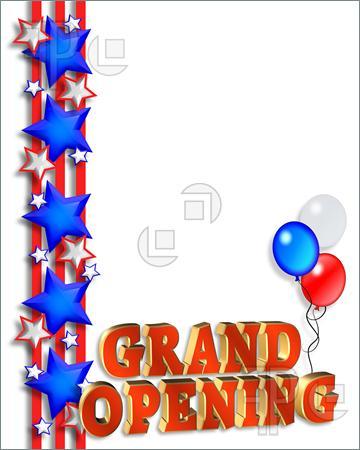 Grand opening clip art