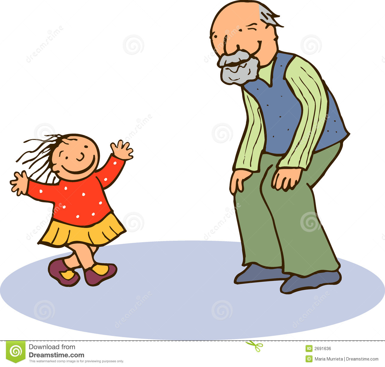 Grandmother And Granddaughter Clipart | Clipart Panda ...