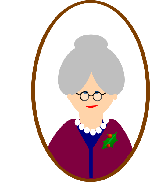 Grandmother Clipart Black And White