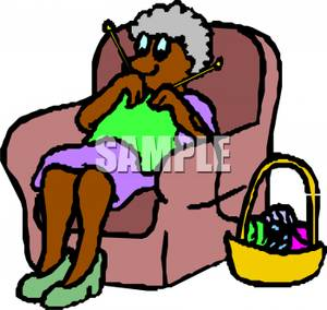 Grandmother Knitting Clipart Clipart Panda Free