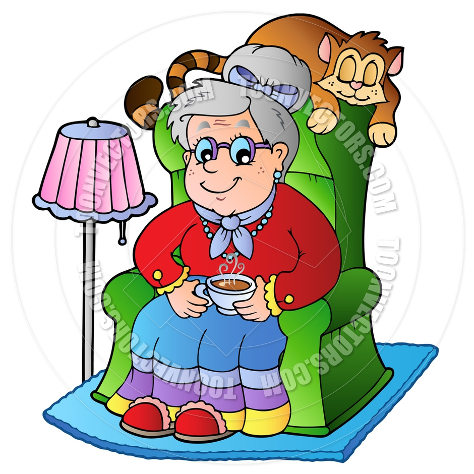 Knitting Granny Clipart : Grandmother knitting clipart panda free