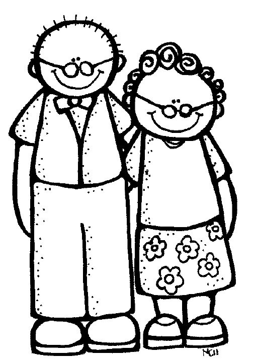 Grandmother Clipart Black And White | Clipart Panda - Free Clipart ...