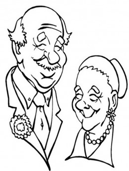 Grandparents clipart clipart panda free clipart images for Coloring pages of grandparents